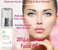 20% Professional Grade Lactic Acid Facial Peel Wrinkles Acne Age Sun Spots 30 ml
