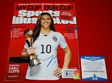 CARLI LLOYD usa womens soccer signed sports illustrated beckett COA GTSM holo