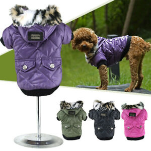 Waterproof Warm Coat Puppy Hoodie Thick Jacket Clothes Apparel for mini Dog Pet