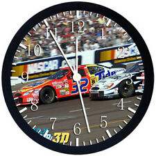 Nascar Black Frame Wall Clock Nice For Decor or Gifts Z67