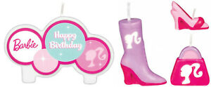 BARBIE Birthday Cake Candle Set 4 pieces Kids Party