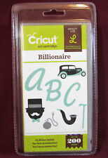 Cricut Lite BILLIONAIRE Cartridge Set w/ Keyboard Overlay NEW! #2000155