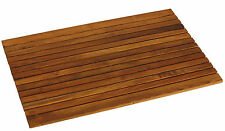 Bare Decor Cosi String Spa Shower Mat in Solid Teak Wood Oiled Finish, Large: 31