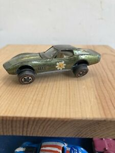 RARE Mattel Hot Wheels Red Line Custom Corvette Diecast Car - Bent Axle