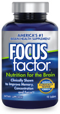 FOCUS FACTOR Brain and Focus SUPPLEMENT 90 TABLETS FREE SHIPPING
