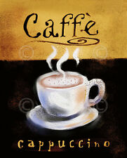 CAFE ART PRINT Caffé Cappuccino - Anthony Morrow Coffee Cup Espresso Poster 8x10