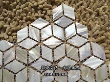 11PCS Rhombus shell mosaic tile mother of pearl kitchen backsplash wall tile