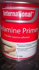 NEW INTERNATIONAL MELAMINE CUPBOARD PRIMER PAINT 750ML -WHITE-