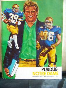1982 Notre Dame Fighting Irish vs Purdue Football Sept 25, 1982