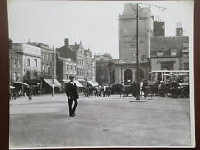 VINTAGE Photograph DOVER Kent Market Square Street Scene 1923 Large photo