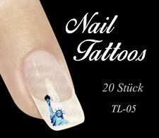 Nail Art Freiheitsstatue Lady Liberty USA Tattoo 20 St TL-05