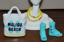 BARBIE MALIBU BEACH BAG GLADIATOR SHOES BEADS FASHIONISTA LIFE IN THE DREAMHOUSE