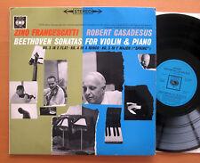 SBRG 72113 FRANCESCATTI CASADESUS Beethoven Violin Sonatas 3 4 5 CBS STEREO EX