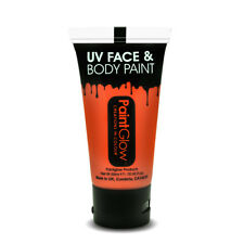 Orange Neon UV Face & Body Paint - 50ml Paint Glow - Make Up Festival Party