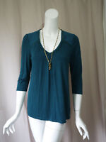 Dolan Anthropologie Green 3/4 Sleeve Top size S Excellent
