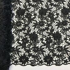 "Magnolia Guipure Venice French Lace Embroidery Fabric 52"" Wide Many Colors"