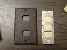 VINTAGE Line Switch Plate   OLD STOCK Steel  complete