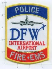 Texas - Dallas Fort Worth Airport TX Fire Dept Patch Police Fire EMS