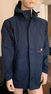 CARHARTT WIP SQUAD PARKA JACKET WATERPROOF WINDPROOF NAVY NEW WITH TAGS SIZE XS