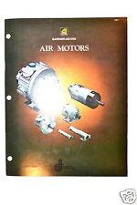 GARDNER-DENVER AIR MOTORS CATALOG 1981 #RR558 how to choose types accessory
