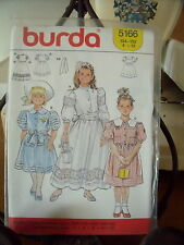 "PATRON"" BURDA  3 ROBES  ROMANTIQUE CEREMONIE  TAILLE  4  A 12 ANS  N°5166"