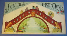 Old c.1900 Antique - French Game PRINT - Jeu Des Inventions - ASIAN / Oriental