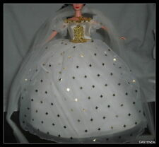 DRESS MATTEL BARBIE EMPRESS-KAISERIN SISSY SEQUINS WHITE GOLD BALL GOWN & WRAP