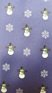 Jacob Alexander Snowmen Mens Necktie Christmas Snowman Xmas Blue Neck Tie