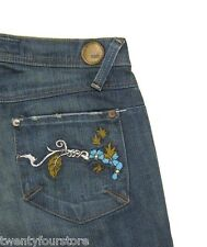 Indie Jeans stretch bootcut w/ floral embroidery details sz 25