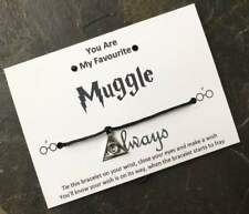 Harry Potter Wish Bracelet, 'You are My Favourite Muggle' Deathly Hallows Charm