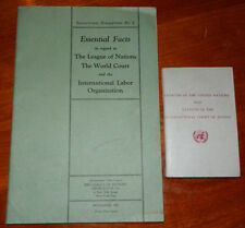 Booklets - The League of Nations & World Court and Charter of The United Nations