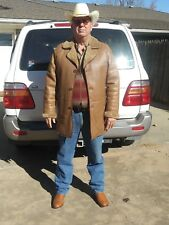 MENS SHEARLING SHEEPSKIN LEATHER COAT JACKET 44L SLIM FIT MADE IN USA
