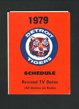 Detroit Tigers--1979 Pocket Schedule--Tigers Yearbook
