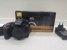 NIKON D5500 24,2Mp - Cuerpo Camara/Body Camera - Black - Shutter Count 21439