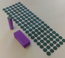108 pc Pre-Cut 18650 Insulator PURPLE PVC Heat Shrink Battery Wrap Vape ebike