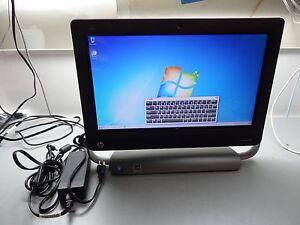"""HP TouchSmart 320-1120m 20"""" All-in-one Desktop 500GB HDD, 6GB RAM, Win7 Pro #TQ4"""
