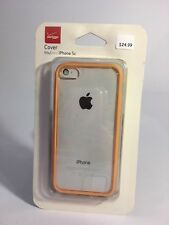 NEW! VERIZON CLEAR AND ORANGE CASE FOR iPHONE 5c SLIM FIT COVER