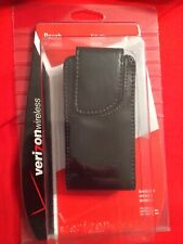 BRAND NEW! Verizon Wireless Universal Black Pouch in SEALED Package: LEATHER