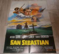 A1 Filmplakat  SAN SEBASTIAN ,  ANTHONY QUINN,A COMER,,CHARLES BRONSON