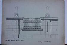 Richard Bunz-architettura, Studio, datato 1906