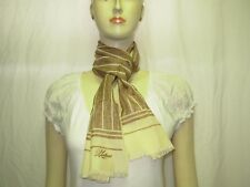 PLATINE PARIS Foulard écharpe beige et marron