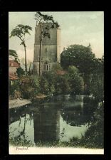 Somerset PENSFORD Church and pond  used 1905 PPC Avonvale Series