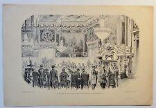 Festin dans le salon de l´Horloge... - Holzstich - ca. 1880