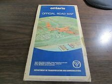 ONTARIO OFFICIAL ROAD MAP - DEPARTMENT OF TRANSPORTATION  - 1972  MAP