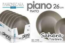 12 PEZZI PIATTI PIATTO PIANO 26 CM PORCELLANA SAHARA RES TORTORA MARRONE 707858