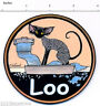 Devon Rex Cat painting loo toilet door litter box sign by Suzanne Le Good