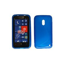 Gummihülle Hülle für Nokia Lumia 620 Silikonhülle Blau Schutzhülle Case TPU Neu