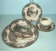 Johnson Brothers FRIENDLY VILLAGE 5 Piece Place Setting Rustic Scene NEW