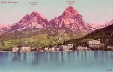 SWITZERLAND LAKE LUCERNE BRUNNEN MYTHEN MOUNTAINS
