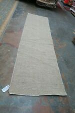 Fine Hand Knotted Wool Afghan Oushak Zero Pile Runner Rug 2'9 x 9'11